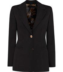 versace granite stretch wool blazer