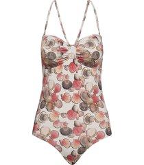 melina swimsuit baddräkt badkläder rosa underprotection