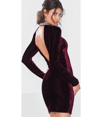 nly eve beaded velvet dress fodralklänningar