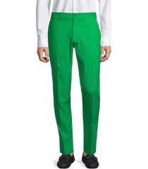 j. lindeberg men's elof tapered pants - stone grey - size 36 32