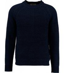 garcia dikke donkerblauwe trui katoen
