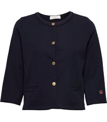 liv jacket gebreide trui cardigan blauw busnel
