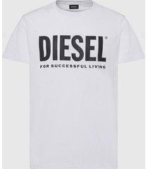 polera classic t diego logo t shirt blanco diesel