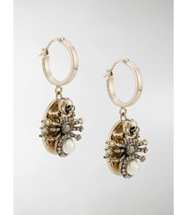alexander mcqueen spider hoop earrings