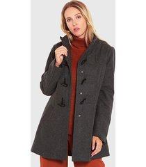 abrigo wados montgomery gris - calce regular