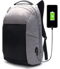 ekphero men anti theft backpack hiking casual multi pocket travel bag with usb
