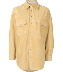 iro drop-shoulder long-sleeve shirt - yellow