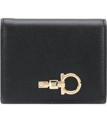 salvatore ferragamo structured wallet - black