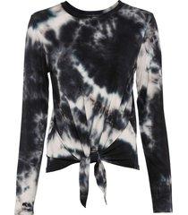 maglia a maniche lunghe con fiocco (nero) - rainbow