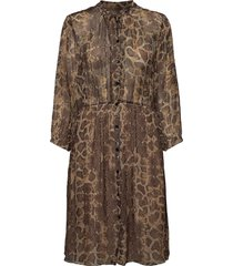 3400 - arlet jurk knielengte bruin sand