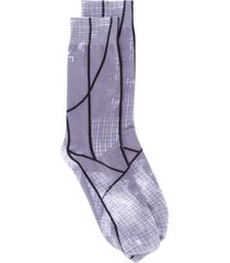 a-cold-wall* graphic-print cotton socks - grey