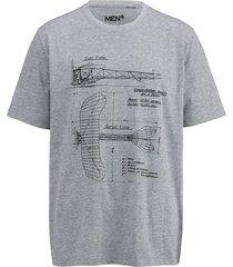 t-shirt men plus donkergrijs