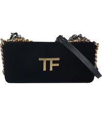 tom ford multi chain logo shoulder bag
