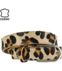 cinturón cuero potro leopardo grande mailea