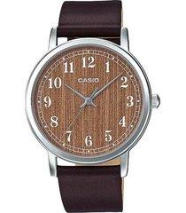 reloj analógico mujer casio ltp-e145l5b2 - marrón