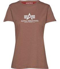 new basic t wmn t-shirts & tops short-sleeved brun alpha industries