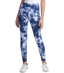 tommy hilfiger sport printed high-rise tie-dyed leggings