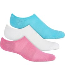 hue women's 3-pk. eco sport cushion no-show socks