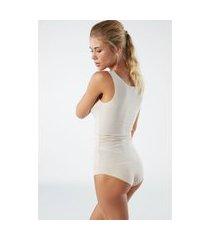 blusa de algodão supima® decote redondo corte a laser - seta g intimissimi