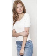 blusa fashion manga corta blanca 609 seisceronueve