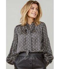 summum 2s2641-11518 bow tie blouse allover print viscose