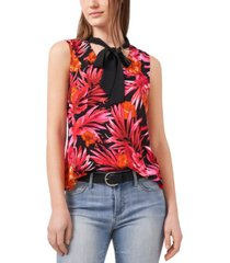 riley & rae amber sun tropical print tie neck blouse, created for macy's
