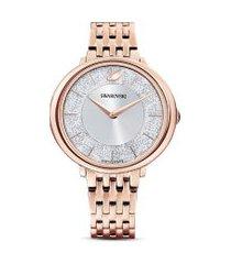 relógio crystalline chic em ouro rose