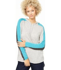 charter club cashmere pop stripe hooded sweater, created for macy's