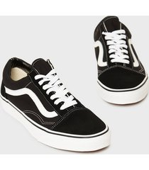 vans old skool sneakers svart/vit