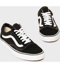 vans old skool sneakers svart/vit