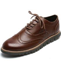 zapato de amarrar marrón pierre cardin pc7245-b