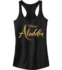 disney juniors' aladdin aladdin live action logo ideal racerback tank top