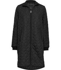 coat doorgestikte jas zwart ilse jacobsen