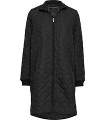 padded quilt coat doorgestikte jas zwart ilse jacobsen