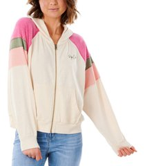 rip curl juniors' shore side zipper hoodie