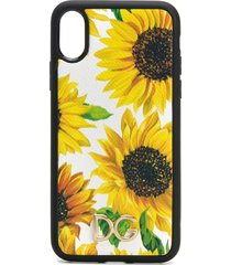 dolce & gabbana floral print iphone x case - yellow