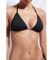 calzedonia string triangle swimsuit top indonesia woman black size 1