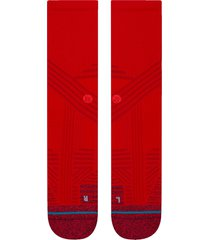 men's stance athletic crew socks, size large - red