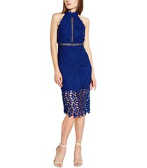 bardot gemma lace sheath dress