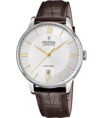 reloj automatic marrón festina