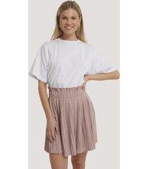 na-kd paper waist mini skirt - pink