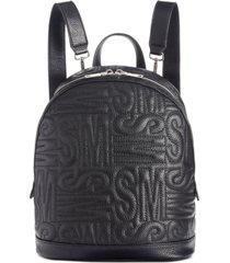 steve madden logo quilted backpack