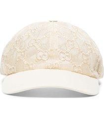 gucci chivali mesh baseball cap - white