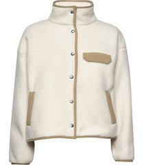 w cragmont flc jkt sweat-shirts & hoodies fleeces & midlayers creme the north face