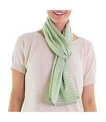 cotton scarf, 'mint highlands' (guatemala)