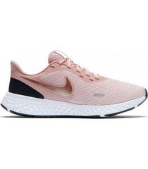 tenis nike revolution 5 para mujer - rosado