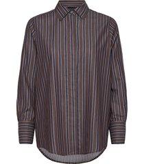 misha organic cotton shirt overhemd met lange mouwen bruin lexington clothing
