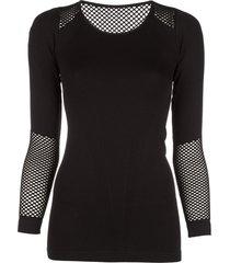 alala seamless long-sleeve t-shirt - black