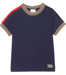 burberry blue t-shirt with check details
