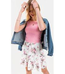 dorothy floral front tie mini skirt - white